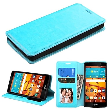 Insten Flip Leather Fabric Cover Case With Stand/Card Holder/Photo Display For LG Magna/Volt 2, Blue (2130225)