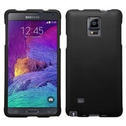 Insten Hard Rubber Coated Case For Samsung Galaxy Note 4 - Black
