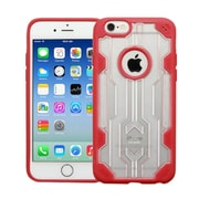 Insten Rubber Case For Apple iPhone 6/6s - Clear/Red