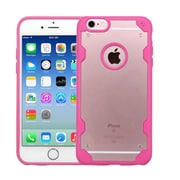 Insten Hard Crystal TPU Case For Apple iPhone 6/6s - Clear/Hot Pink