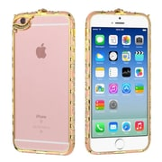 Insten Hard Rubberized Bumper Case with Diamond For Apple iPhone 6 / 6s - Pink