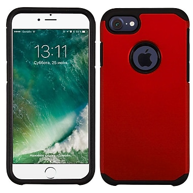 Insten Dual Layer Hybrid Soft TPU Hard Shell Case For Apple iPhone 7/ 8, Red/Black (2271071)