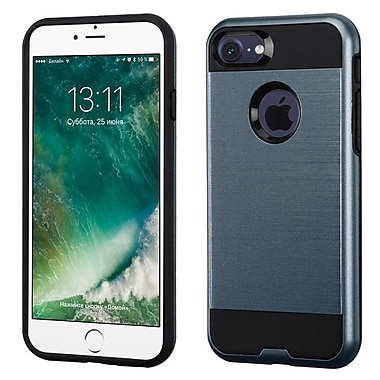 Insten Dual Layer Hybrid Soft TPU Hard Shell Case For iPhone 7/ 8, Blue/Black (2271097)