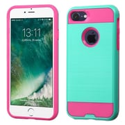 Insten Dual Layer Hybrid Soft TPU Hard Shell Case For Apple iPhone 7 - Teal/Pink