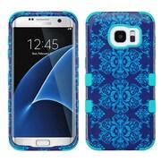 Insten Tuff Damask Hybrid Soft Hard Case Cover (3-Piece Style) for Samsung Galaxy S7 Edge - Blue