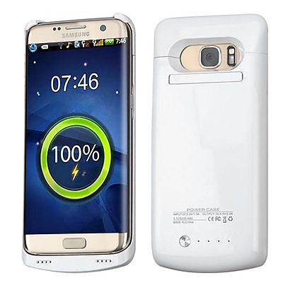 Insten 5200 mAh Quantum Energy Battery Case for Samsung Galaxy S7 Edge - White
