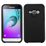 Insten Hard Hybrid Rubberized Silicone Case for Samsung J1 (2016) / Galaxy Amp 2  - Black
