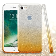 Insten Glitter Hybrid Hard Plastic/Soft Flexible Rubber Case For iPhone 7 - Gold