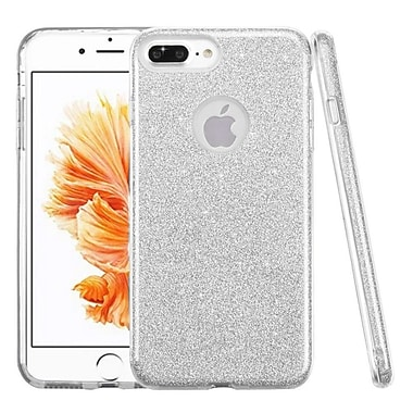 Insten Glitter Hybrid Hard Plastic / Soft Flexible Rubber Case For iPhone 7 Plus/ 8 Plus, Silver (2276956)
