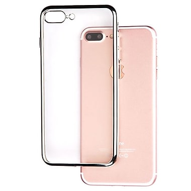 Insten Clear Back Rubber Panel Case with Silver Bumper For iPhone 7 Plus/ 8 Plus (2277042)
