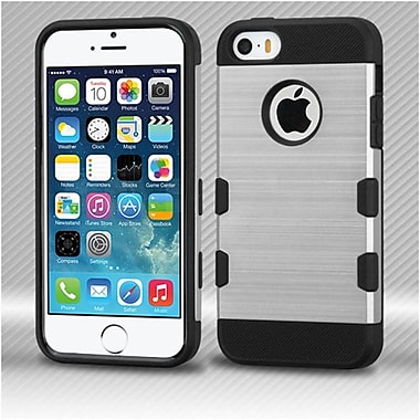 Insten Hard TPU Cover Case For Apple iPhone SE / 5 / 5S - Silver/Black