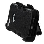 Insten Tuff Hybrid Holster Kickstand Belt Clip Case For iPhone SE / 5 / 5S - Black (Dual Layer Design & Shock Absorbent)