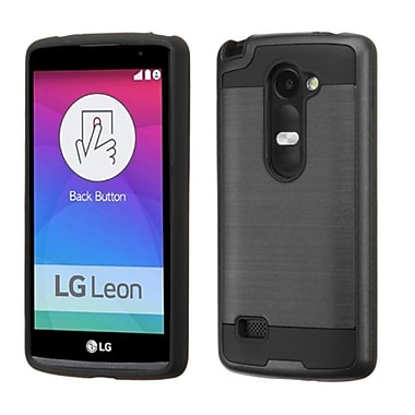 Insten Hard Hybrid Rugged Shockproof Rubber Coated Silicone Case For LG Leon/Risio/Tribute 2 - Black