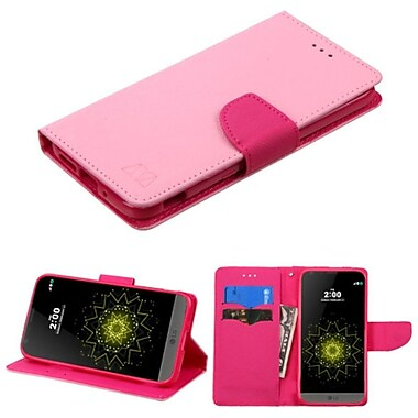 Insten Folio Leather Wallet Case With Card Slot For LG G5, Pink (2211402)
