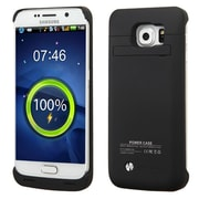Insten 4200 mAh Black Quantum Energy Portable Power Bank External Backup Battery Charger Case For Samsung Galaxy S6