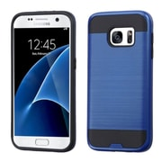 Insten Hard Hybrid Rubberized Silicone Cover Case For Samsung Galaxy S7 - Blue/Black