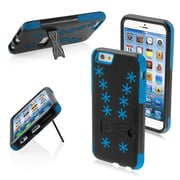 Insten 3-Layer HybrId Case WInter Snowflake Inverse Soft SIlIsone / Hard PC Shockproof Cover for IPhone 6 6s Black/Blue