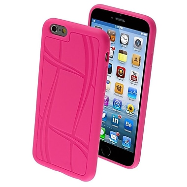 Insten ? Étui en gel TPUR Candy à texture de ballon de basketball pour iPhone 6/6s de 4,7 po, rose vif (1938458)