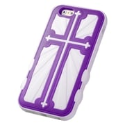 """Insten Hard Hybrid Rugged Shockproof Silicone Case For iPhone 6S 6 4.7"""" - Purple/White"""