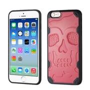 Insten Skullcap Hard TPU Cover Case For Apple iPhone 6/6s - Pink/Black