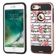 Insten Fresh Roses Hard Hybrid TPU Case For Apple iPhone 7 - Pink/White