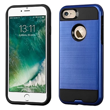 Insten Dual Layer Soft TPU Hard Plastic Ultra Slim Case For iPhone 7, Blue/Black (2271103)
