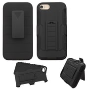 Insten Dual Layer Heavy Duty Hard Hybrid Holster Case with Belt Clip For Apple iPhone 7 - Black