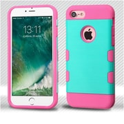 Insten Teal Green/Electric Pink Brushed TUFF Trooper Hybrid Dual Layer Case Cover for Apple iPhone 7