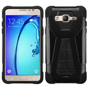 Insten Hard Hybrid Plastic Silicone Case w/stand For Samsung Galaxy On5 - Black