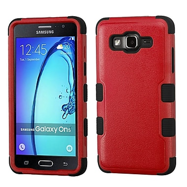 Insten Tuff Hard Hybrid Rubber Coated Silicone Case For Samsung Galaxy On5 - Red/Black