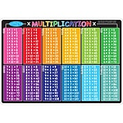 """Smart Poly™ Learning Mats, 12"""" x 17"""", Double-Sided, Multiplication, Pack of 10 (ASH95606)"""