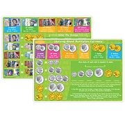 """Smart Poly™ Learning Mats, 12"""" x 17"""", Double-Sided, Australian Currency, Pack of 10 (ASH95630)"""