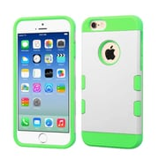 Insten Dual Layer Hybrid Hard PC/TPU Shockproof Case Cover for iPhone 6 6s - White/Green