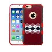 Insten Argyle Hard Cover Case For Apple iPhone 6/6s - Red/White
