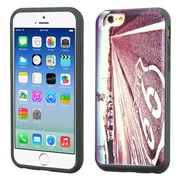 Insten Historic Route 66 Hard Hybrid Rubber Coated Silicone Cover Case w/card slot For Apple iPhone 6/6s - Purple