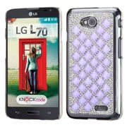 Insten Hard Bling Case For LG Optimus Exceed 2 VS450PP Verizon/Optimus L70 /Realm - Silver/Purple