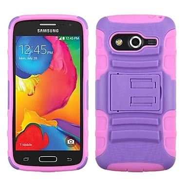 Insten Advanced Armor Hard Dual Layer Plastic Silicone Cover Case w/stand For Samsung Galaxy Avant - Pink/Purple