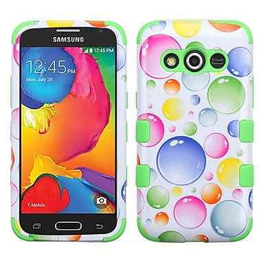 Insten Tuff Rainbow Bubbles Hard Dual Layer Rubber Coated Silicone Cover Case For Samsung Galaxy Avant - White/Green