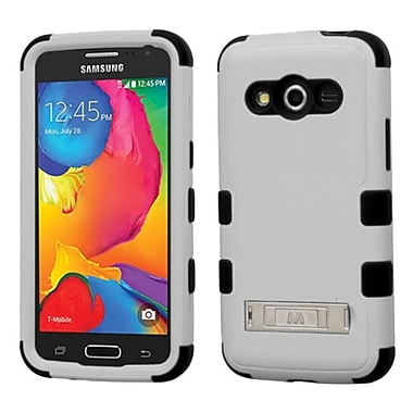 Insten Hard Hybrid Shockproof Rubber Coated Silicone Case with Stand For Samsung Galaxy Avant - Gray/Black