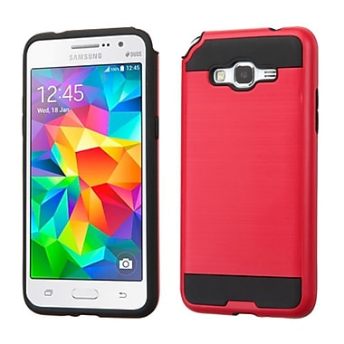 Insten Hard Dual Layer Rubber Silicone Cover Case For Samsung Galaxy Grand Prime, Red/Black (2173092)