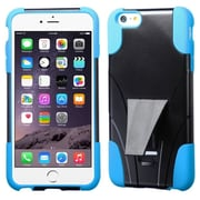 """Insten T-Stand Hard Hybrid Rubber Coated Silicone Cover Case For Apple iPhone 6 Plus 5.5"""" - Black/Blue"""