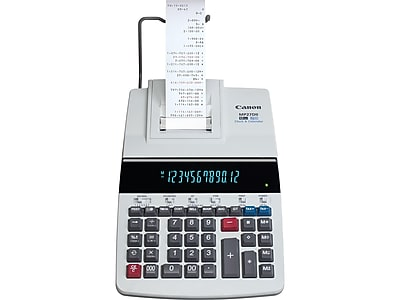 Canon MP27DII 8707B001AA 12-Digit Desktop Printing Calculator, Gray
