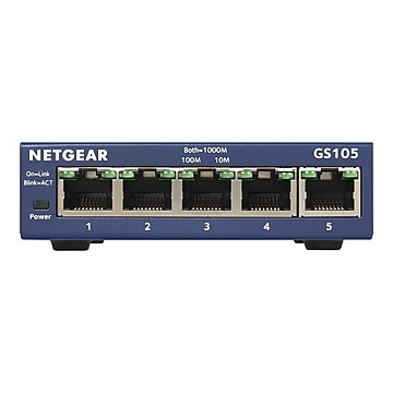 NETGEAR 5-Port Gigabit Ethernet Unmanaged Switch, Plug-and-Play (GS105NA)