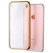 Insten Clear Crystal Slim Case Transparent Back Cover with Diamond Gold Bumper for iPhone 6S Plus / 6 Plus