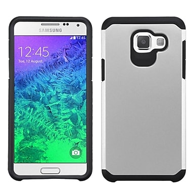 Insten Hard Dual Layer Rubberized Silicone Cover Case For Samsung Galaxy A5, Silver/Black (2200370)
