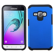 Insten Hard Hybrid Rubberized Silicone Cover Case For Samsung J1/Galaxy Amp 2, Blue/Black (2235467)