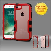 Insten Red Frame+Transparent PC Back/Black TUFF Vivid Hybrid Case Cover for Apple iPhone 7