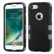 Insten Tuff Hard Hybrid 3-Layer Rubberized Silicone Case For iPhone 7 - Black/Gray