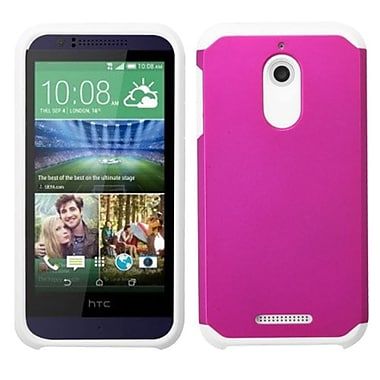 Insten Hard Hybrid Rugged Shockproof Rubber Silicone Cover Case For HTC Desire 510, Hot Pink/White (2068626)
