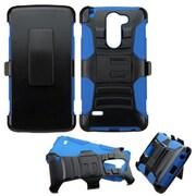 Insten Hard Hybrid Rugged Shockproof Plastic Silicone Case w/Holster For LG G Stylo - Black/Blue